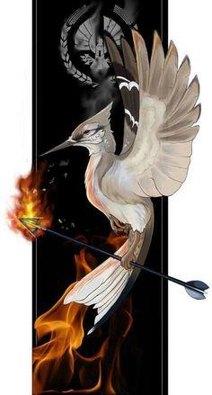 Mockingjay Art From The Hunger Games The Hunger Games, Hunger Games Fandom, Hunger Games Mockingjay, Hunger Games Catching Fire, Hunger Games Trilogy, Katniss Everdeen, Tribute Von Panem Film, Fan Art, I Volunteer As Tribute