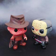 Scares are better in pairs   Funko Pop! Freddy & Jason Vinyl Figure Set