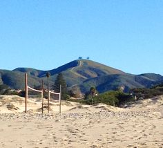 """Ventura beach.  From the beach to the hills.  """"Two Trees"""" on the hill top. - Images by Sunny Oberto"""