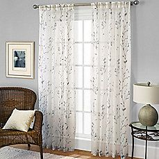 image of Willow Print Pleated Window Panel