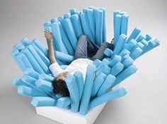 Do you want a toothbrush couch? You know you do!