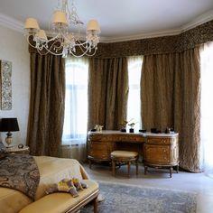 Оформление окна в спальне. Эркер. Le-Decor