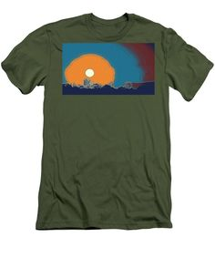 Sunset In Samarkand City, Uzbekistan Central Asia - Men's T-Shirt (Athletic Fit)