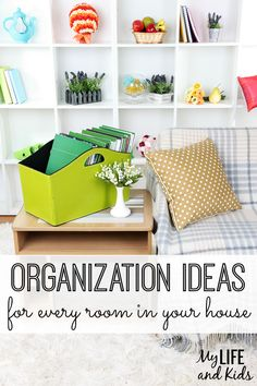 Get organized for good! Tackle every area of your home using these awesome organization ideas.