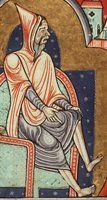 The Hague, KB, 76 F 13 (Fecamp Psalter ) Normandy (Fécamp?); c. 1180 Fol. 2v February: a man warming himself at a fire