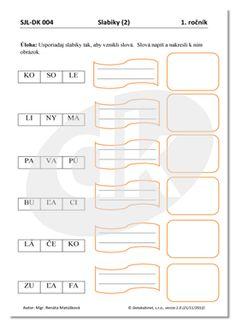 SJL-DK 004 (1. ročník)   datakabinet.sk Bar Chart, Education, Speech Language Therapy, Bar Graphs, Onderwijs, Learning