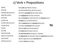 preposition list grammar englishclub - 236×177