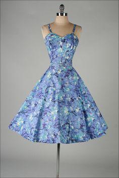vintage 1950s dress . MCKETTRICK . purple by millstreetvintage