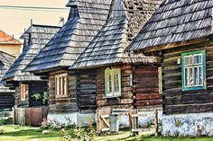 Photograph Old wooden cottage; Slovakia by Anna Chodera on Wooden Cottage, Wooden House, Native Country, Church Building, Bratislava, Eastern Europe, Natural Living, Castle, House Styles