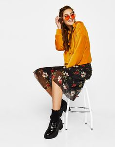 Bershka Portugal - Sweatshirt de veludo com capuz