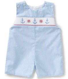 2027cb91f Shop for Edgehill Collection Baby Boys 3-9 Months Nautical Striped  Embroidered Shortall at Dillards