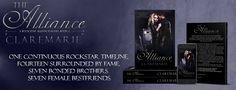 The Alliance Book 1 Banner.  One Continuous Rockstar Timeline. Fourteen Surrounded By Fame. Seven Bonded Brothers. Seven Female Best Friends.  #ClareMarie #TheAlliance #Ivy&Kayden #TheRockstarAllianceSeries #DenyMe #Love #Fame #Friendship #Brotherhood #Sisterhood #Loyalty