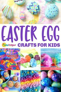 You'll find all kinds of fun and easy Easter Egg Crafts for kids of all ages here. How to dye Easter eggs, Easter egg art projects and even Easter egg treats. There's something here for toddlers through tweens. Easter Crafts For Toddlers, Easter Art, Bunny Crafts, Easter Activities, Easter Crafts For Kids, Toddler Crafts, Easter Eggs, Toddler Art, Motor Activities
