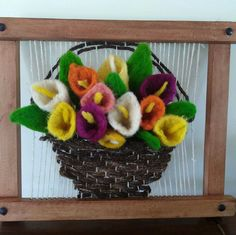 Tulipan Loom Weaving, Textile Art, Macrame, Crochet Earrings, Butterfly, Textiles, Pictures, Crafts, Inspiration