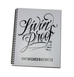 "'Livin Proof Volume 2"" A SKETCH BOOK OF DRAWINGS THAT WERE USE FOR PRODUCTS, TATTOO, OR JUST KILLIN TIME. ALSO HAS PICTURES OF FINISHED PRODUCTS ALL VECTORED OUT. A MUST HAVE!!!"