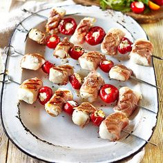 Cod Loin, Prosciutto & Sweet Red Pepper Skewers - from Lakeland