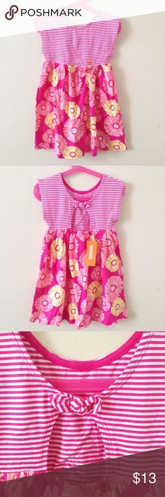 NWT Pink Striped Daisy Dress. NWT Pink Striped Daisy Dress. 100% cotton. Gymboree Dresses Casual