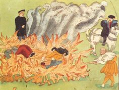 witches were executed by people in medieval times.