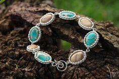 Aqua Terra Bracelet by designbyeSKay on Etsy