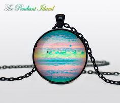 JUPITER Pendant  Jupiter necklace  planet necklace galaxy Universe Necklace  Space universe  Art Gifts for Her for men for him and hers. $13.50, via Etsy.