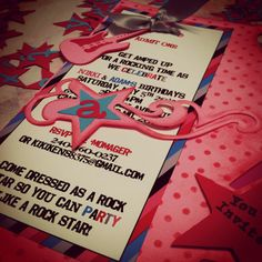 Cupcake Wishes & Birthday Dreams: {Party Starters} Rock Star Party Invitations
