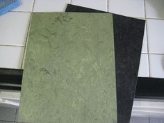 Armstrong Linoleum - Parrot Green and Obsidian