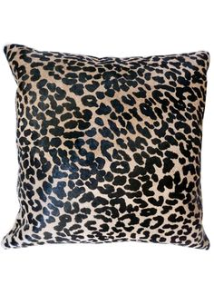 IMPERIO Vida leopard printed cowhide pillow