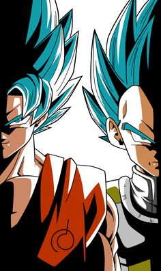 Super Saiyan Blue Goku and Vegeta Alt Palette #2 by RayzorBlade189 on DeviantArt