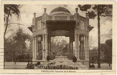 Templete de la Música : Castellón. (1945 a. de) - Anónimo Mental Asylum, Victorian Life, Slums, Valencia, Taj Mahal, Building, Travel, Noblesse, Antique Photos