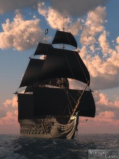 Black Sails means only one thing its a pirate ship