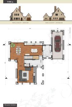 Voorbeeldvilla type 4 - begane grond