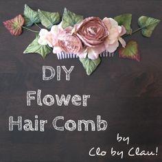 DIY: Flower Hair Comb