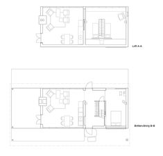 DELIN ARKITEKTKONTOR Compact Living, Scandinavian Home, Prefab, Small Apartments, Tiny House, Floor Plans, Diagram, Construction, How To Plan