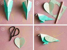 Origami Lovebirds DIY