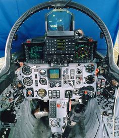 Fighter Plane Cockpit | The MiG-21 2000 cockpit after upgrade and modernisation.