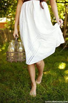 carrying milk bottles