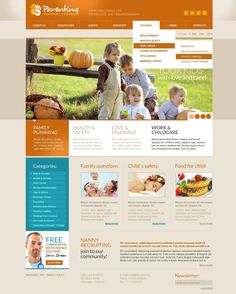 Check out this Family Center PSD Template ( and you might fall in love with it. Clean, professional and straightforward design. Family Website, Web Design Software, Joomla Templates, Web Themes, Website Template, Family Life, Parenting, This Or That Questions, Interior Design