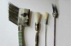 the art room plant: Jo Lawrence Combines photographs and found objects to make illustrations