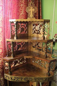 Мебель ручной работы. Ярмарка Мастеров - ручная работа. Купить Иконостас. Handmade. Коричневый, полка, крест, молитва, берёза