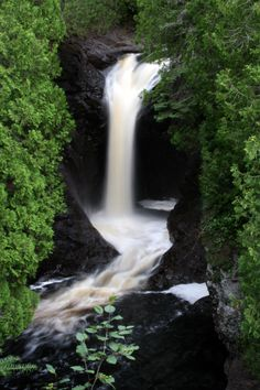 Cascade Falls, MN - So many beautiful falls in MN - my homeland. I feel blessed to have seen so many of them. Lutsen Resort, Cascade Falls, Lake Superior, North Shore, Outdoor Camping, Day Trips, State Parks, Minnesota, Places To See