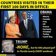 And TrumPredator was loud and obnoxiously criticizing Obama for playing too much golf?!!!! #Hypocrite #Republican