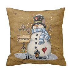 Folk Art Snowman on