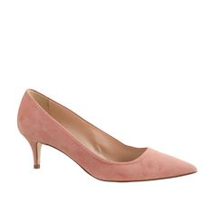 J.Crew Dulci Suede Kitten Heels in Blush