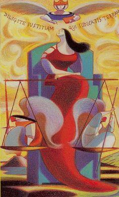 Justice - Dante Tarot by Andrea Serio, Giordano Berti