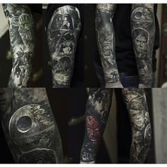 Star Wars Full Sleeve Tattoo by Shevchenko Evgeny 1