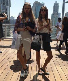 Xenia wearing her #HOGAN H283 Maxi Platform #sneakers