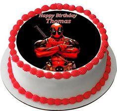 Deadpool Edible Birthday Cake Topper