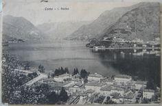 1915 Como l. Bacino n° 212  R.E.V. Como timbro Ristorante del Giardino con alloggio Preti Giuseppe Cernobbio cartolina con francobollo Italia 5 cent.