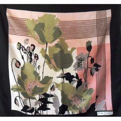 jean patou, seta, sciarpa, Foulard Carré en Soie, seidentuch, vintage, pas cher Scarf, collection