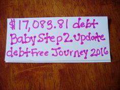 Baby step #2 update ..debt free journey